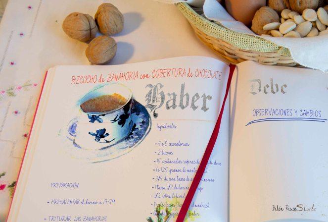 cuadernos creativos bizcocho de zanahoria ingredientes