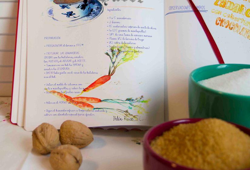 cuadernos creativos bizcocho de zanahorias preparacion