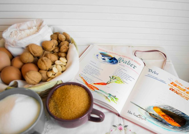cuadernos creativos bizcocho de zanahorias