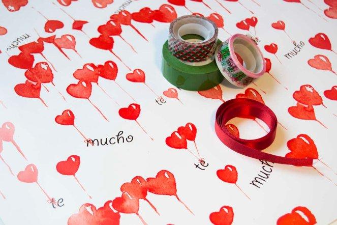 fondo papel corazones clasico
