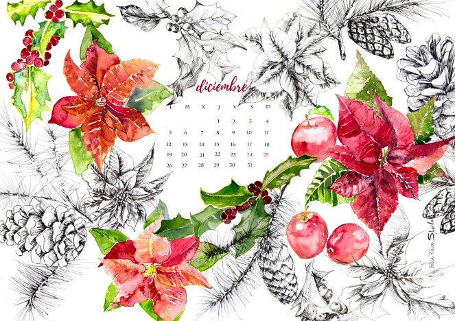 calendariodiciembreparacoloreablogr