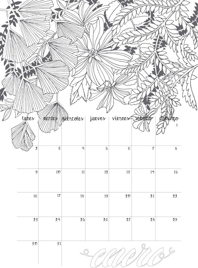 calendarioenero2017lettering